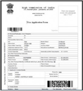Online Indian Visa Form 3